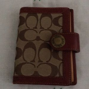 Coach passport and bank/business card holders